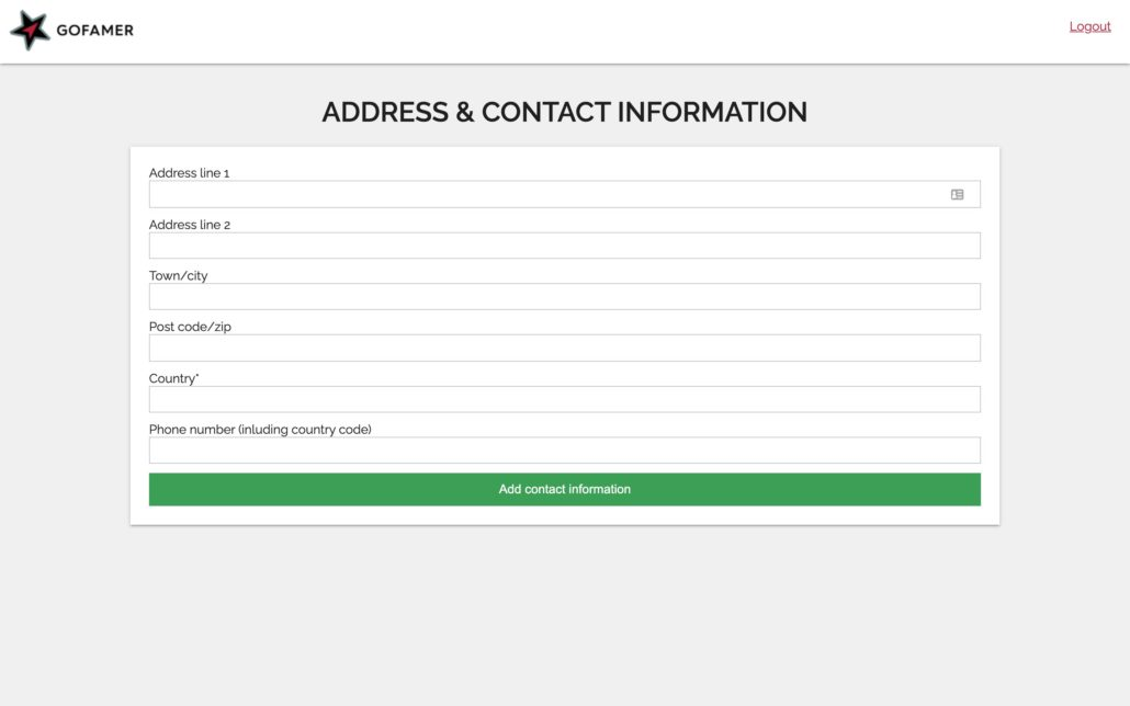 Add your details.